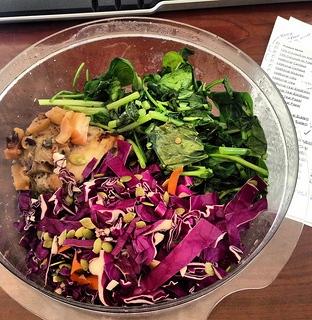 sautéed kohlrabi greens & spinach
