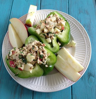 tuna salad with apples, parsley, dijon mustard