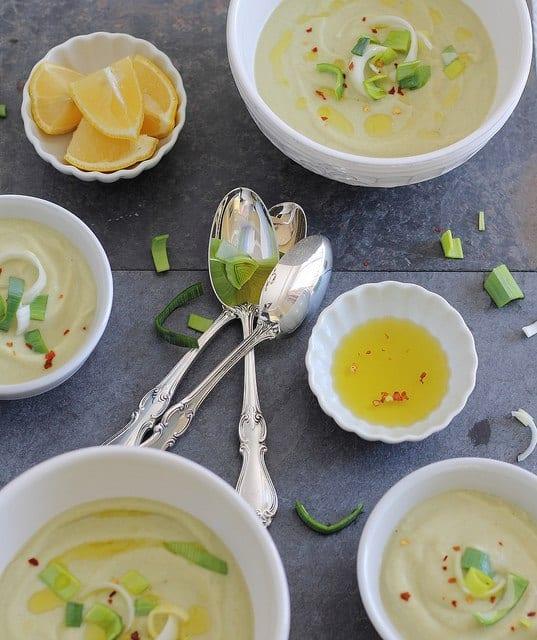 cauliflower leek soup