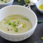 From bookmark to blog: roasted cauliflower & leek soup