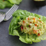 Creamy avocado sriracha egg salad