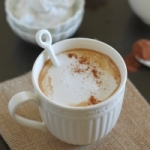 Pumpkin hot chocolate with vanilla coconut whipped cream