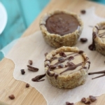 Easy no bake almond butter and chocolate tartlets