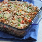 Cheddar chicken quinoa bake
