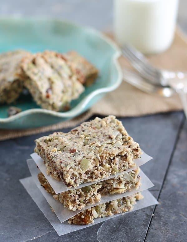 Grain and gluten free breakfast bars