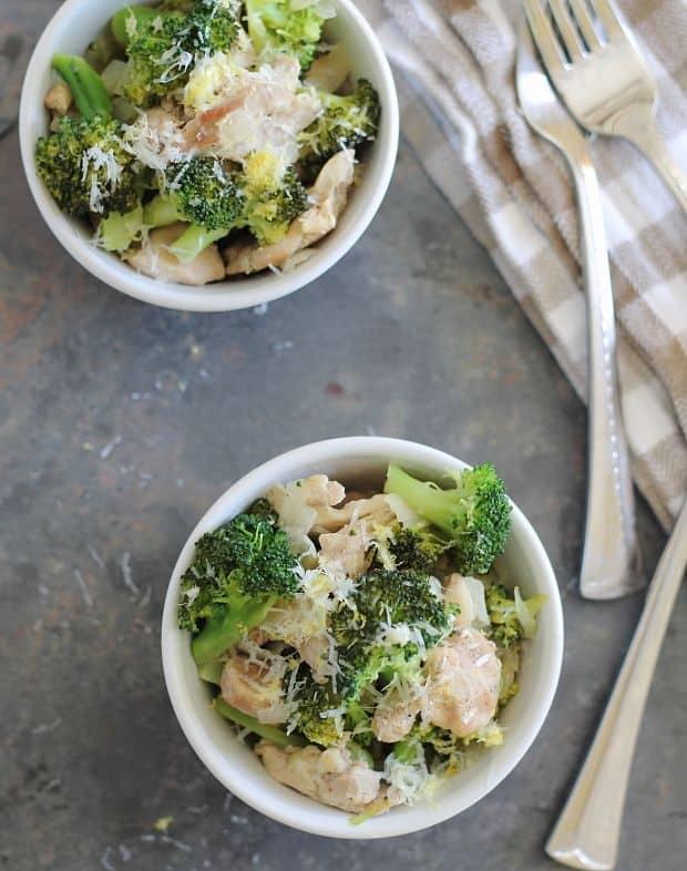 Lemon chicken and broccoli