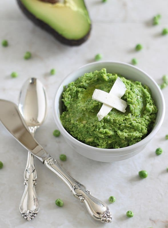 Minty pea and avocado spread