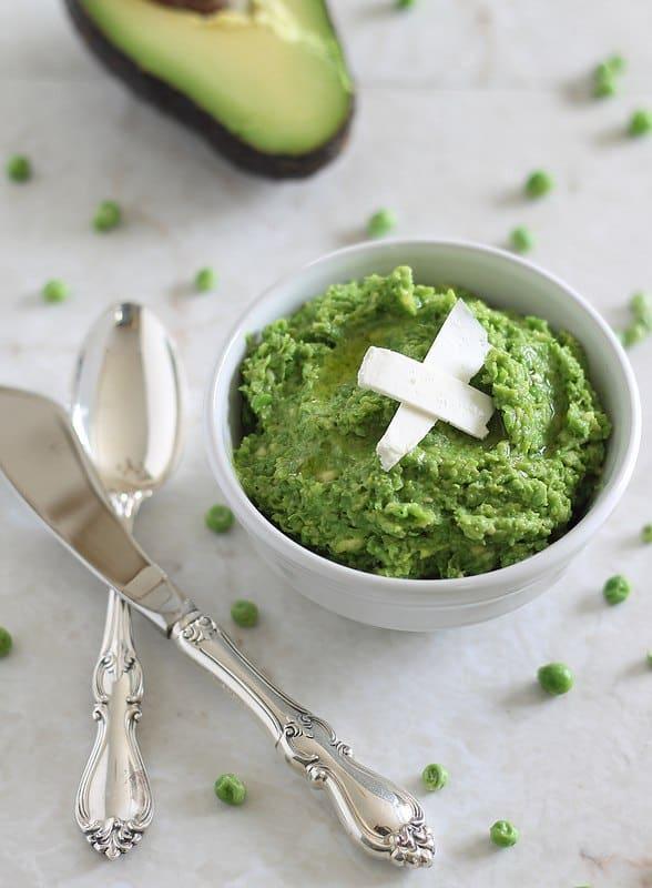 Minty pea and avocado spread