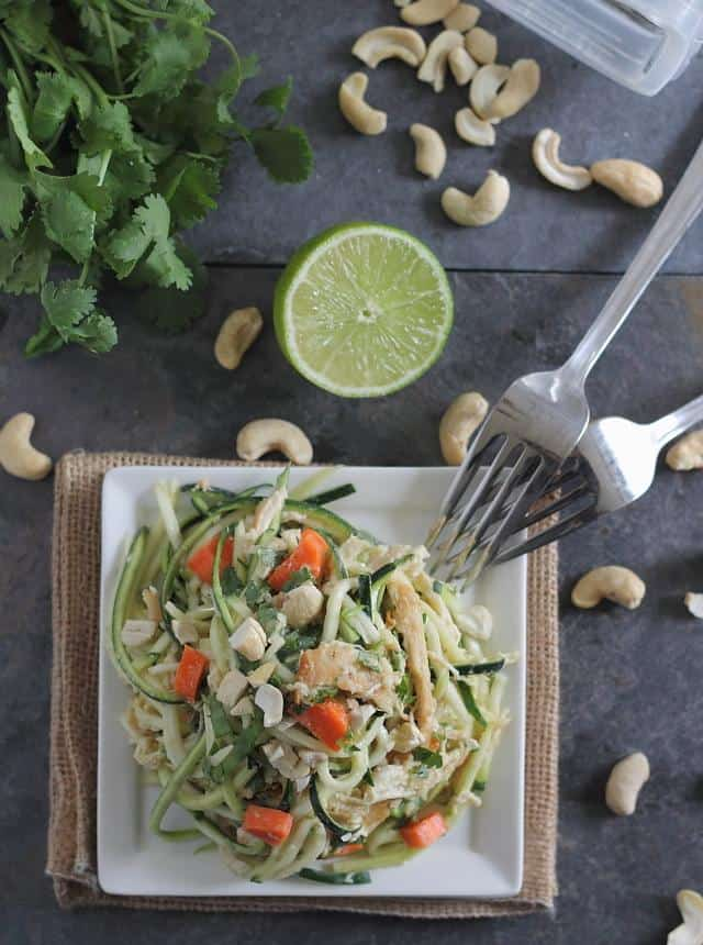 Give your favorite Thai noodle dish a healthy makeover with zucchini noodles.