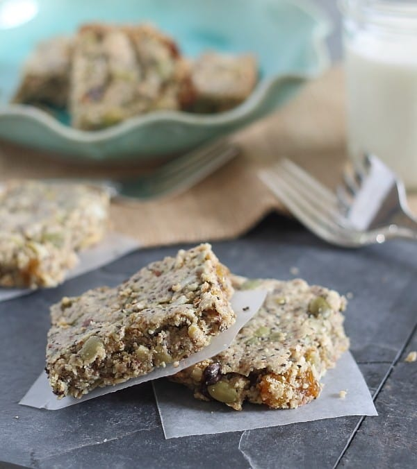 healthy paleo and gluten free breakfast bars