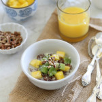 Mango Kiwi Breakfast Quinoa
