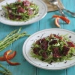 Asparagus and blood orange salad