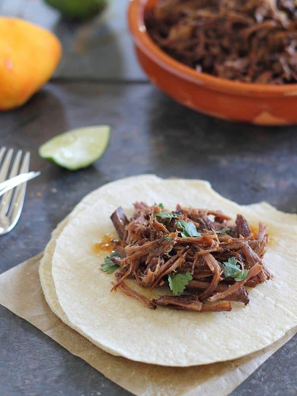 Spicy orange beef carnitas