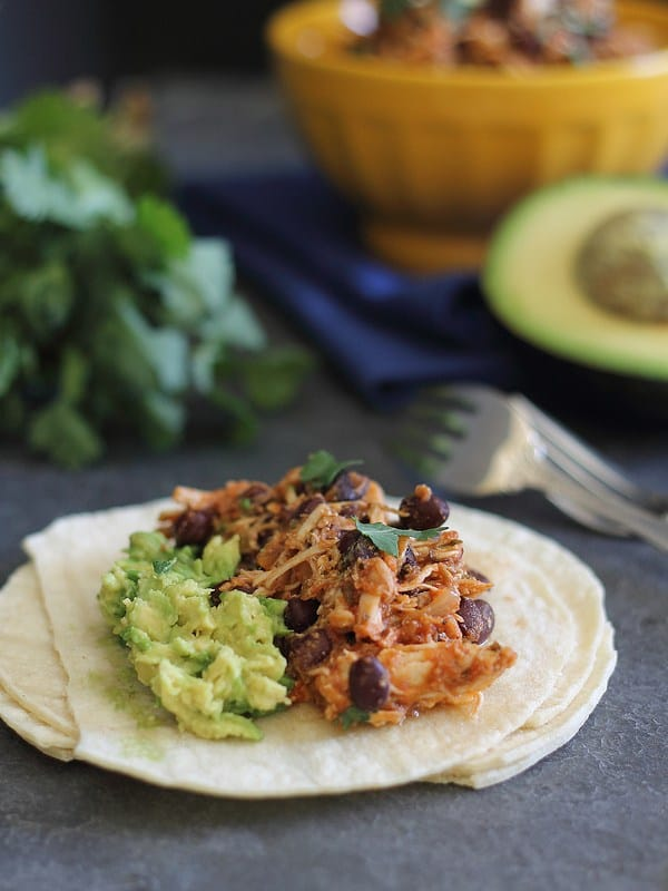 4-Ingredient Slow Cooker Pulled Chicken | Running to the Kitchen