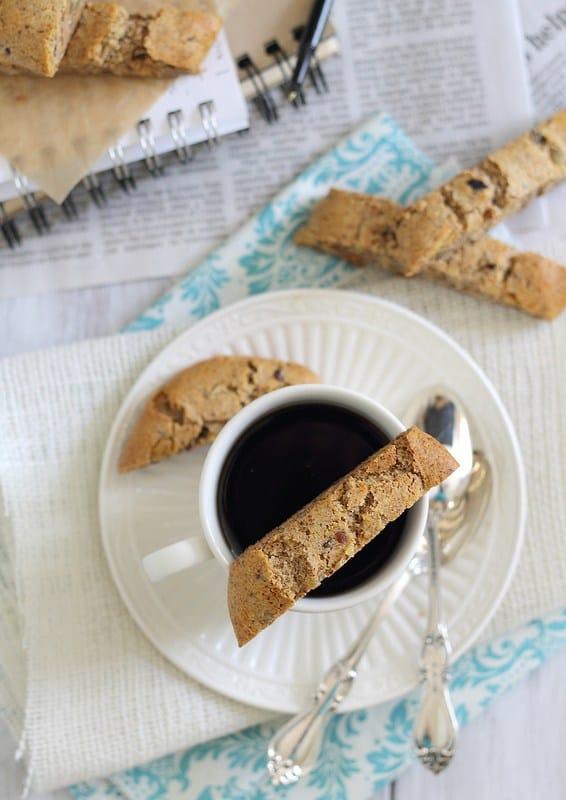 grain and gluten free almond ginger biscotti