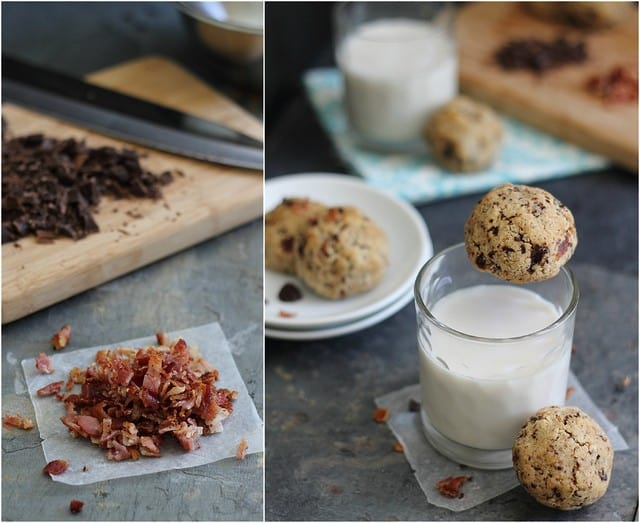 Salty and sweet combine in these paleo bacon chocolate chip cookies. The perfect gluten-free, grain-free and dairy-free treat to indulge with!