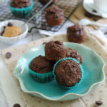 Chocolate Coffee Peanut Butter Muffins