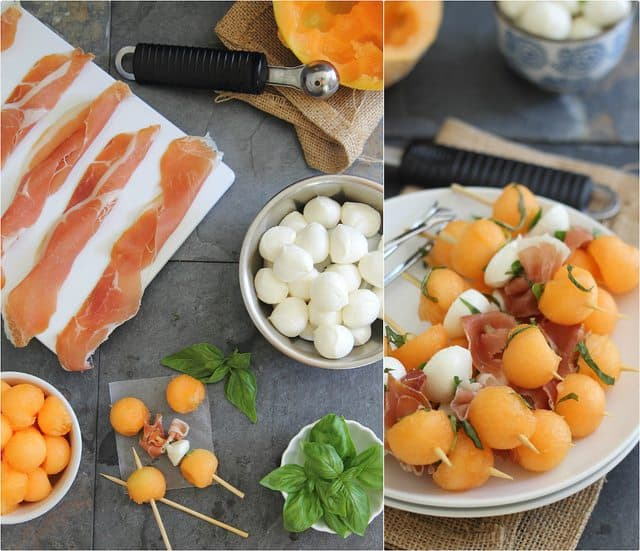 melon mozzarella appetizer