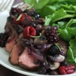 Cocoa spiced rubbed pork tenderloin