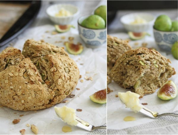 Hearty, chewy and full of flavor, this fig and orange oat bread is a delicious addition to your breakfast.