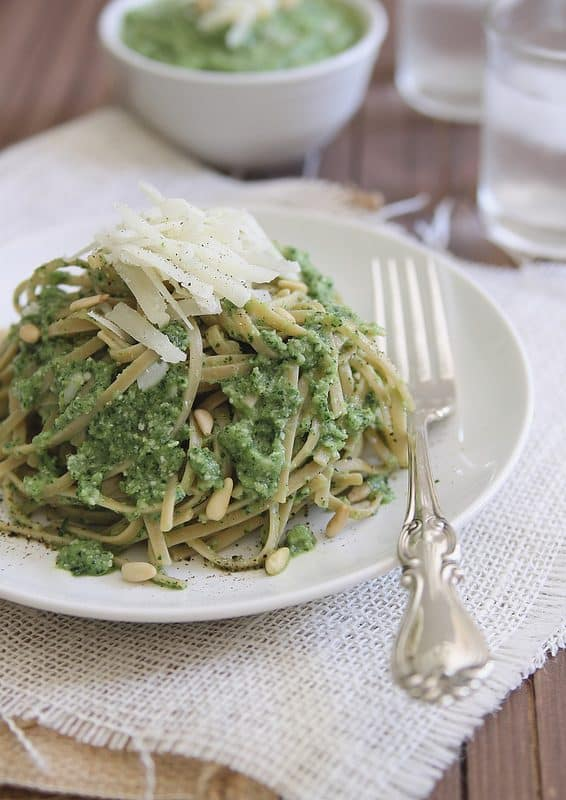 Pasta with Zucchini Pesto | runningtothekitchen.com