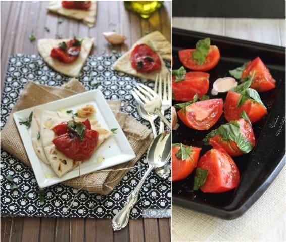 Roasted Tomato Pita Bread | runningtothekitchen.com