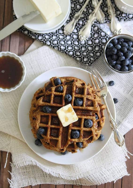 Sweet Potato Waffles are grain-free and gluten-free and a hearty delicious way to start your morning.