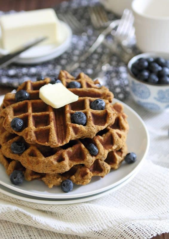 Try these thick and hearty sweet potato waffles for a seasonal breakfast treat to start your weekend!
