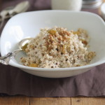 Apple nut porridge