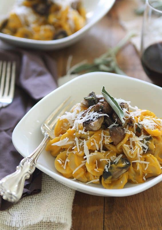 Pasta with Sage Mushrooms | runningtothekitchen.com