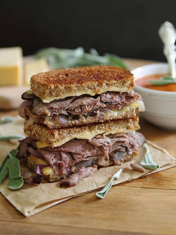 Roast Beef and Smoked Gouda Grilled Cheese   runningtothekitchen.com