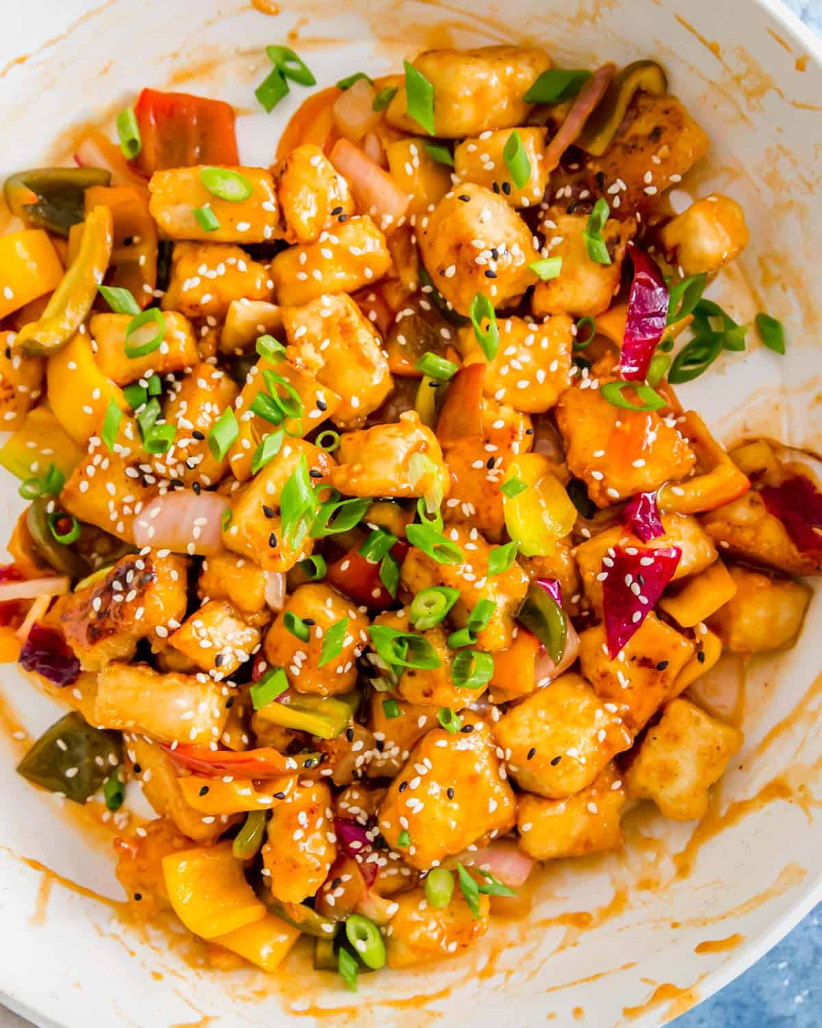 This easy sweet and sour tofu comes together in a skillet in just 20 minutes of active time.
