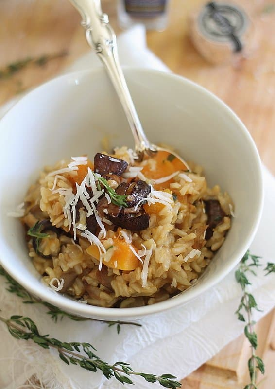 Butternut Squash and Porcini Risotto 2