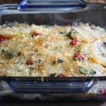 Butternut squash and cranberry gratin