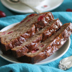 Cranberry Banana Tea Bread with Orange Glaze