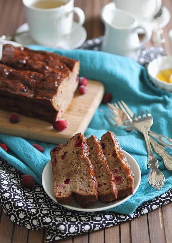 Cranberry Banana Tea Bread