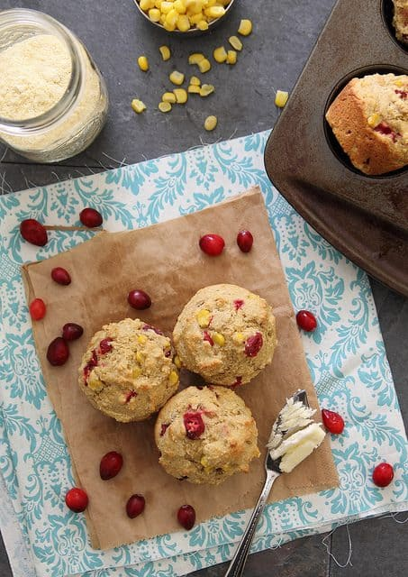 Corn Cranberry Muffins