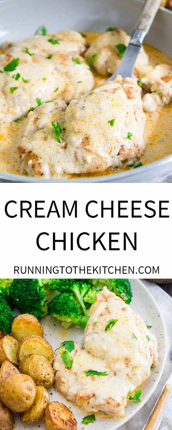 Try this simple cream cheese sauce for chicken in this 20 minute dinner.