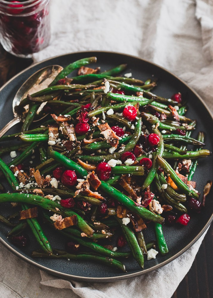 Green Beans With Cranberries Bacon And Goat Cheese