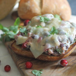Open Faced Turkey Cranberry Melt