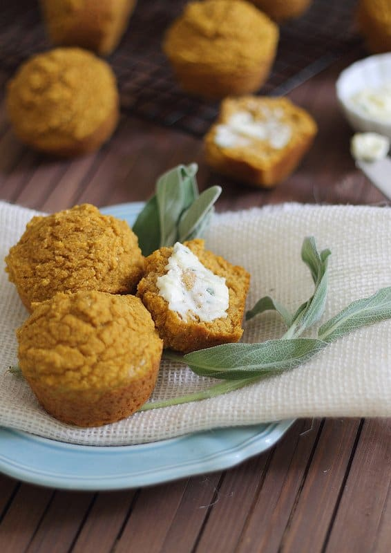 Pumpkin Corn Muffins   runningtothekitchen.com