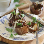 Chocolate Red Wine Beef Stew Stuffed Potatoes