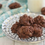 Dark chocolate amaretto fudge cookies