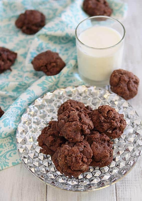 Dark Chocolate Amaretto Fudge Cookies