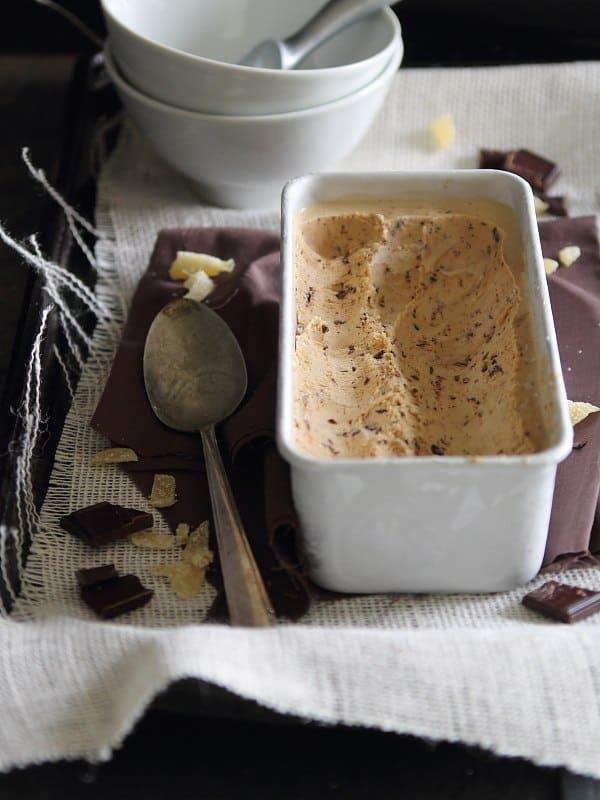 Dark Chocolate Gingerbread Ice Cream   www.runningtothekitchen.com