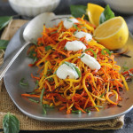 Meyer Lemon Roasted Carrot Strings