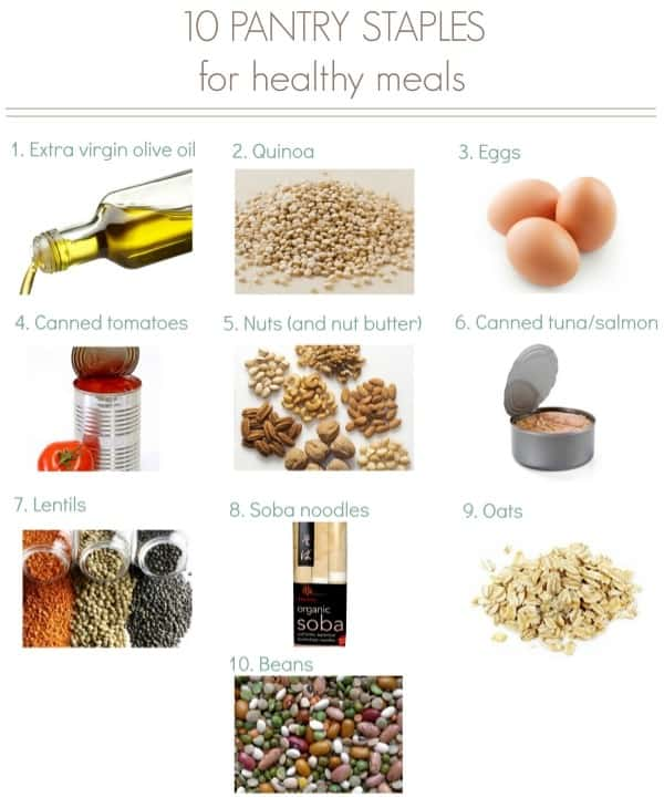 10 Pantry Staples for healthy meals