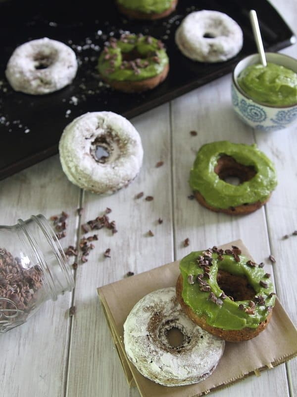 These baked chocolate avocado donuts are a healthier way to enjoy a cake donut with fun topping ideas!