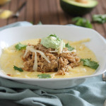 Balsamic pulled pork with polenta and avocado crema