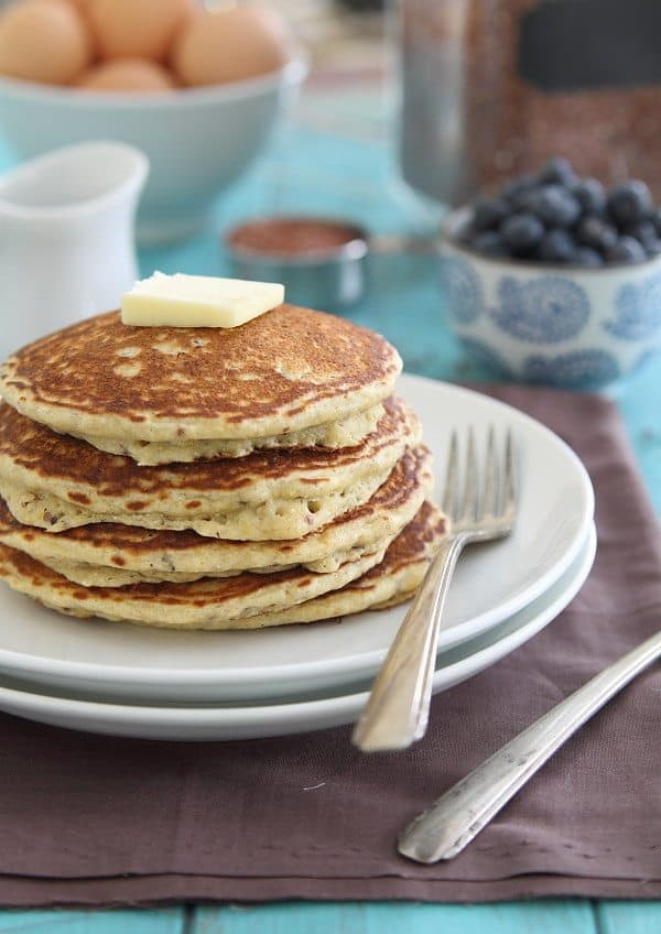 These Meyer lemon quinoa pancakes are a thick, fluffy, lemony and sweet gluten-free pancake packed with an extra protein boost from the quinoa.